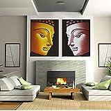 SoulSpaze LIMITED Edition Buddha Head - Lienzo pintado dorado
