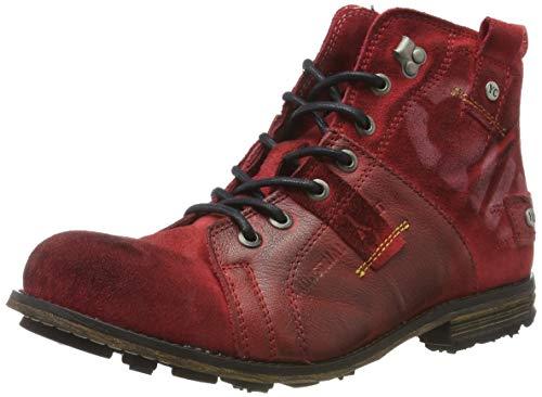Yellow Cab Herren Industrial Biker Boots, Rot (Brick 501), 43 EU