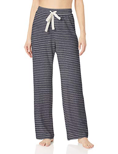 Amazon Essentials Lightweight Lounge Terry Pant Pajama Bottom, Marineblau gestreift, S