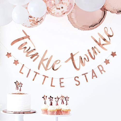 Ginger Ray Rose Gold Twinkle Twinkle Bunting - Twinkle Twinkle Range by