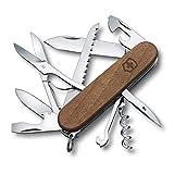 Victorinox Huntsman Couteau de poche suisse, Léger, Multitool, 13 fonctions, Tire Bouchon, Lame, Ouvre boite, Bois