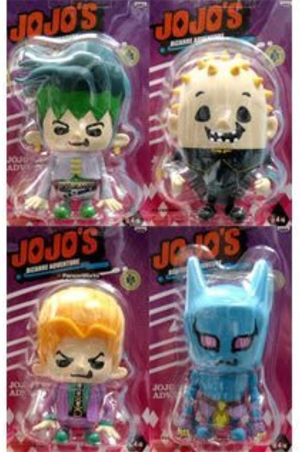 JoJo's Bizarre Adventure Soft Vinyl Figure 6 in blister all four set