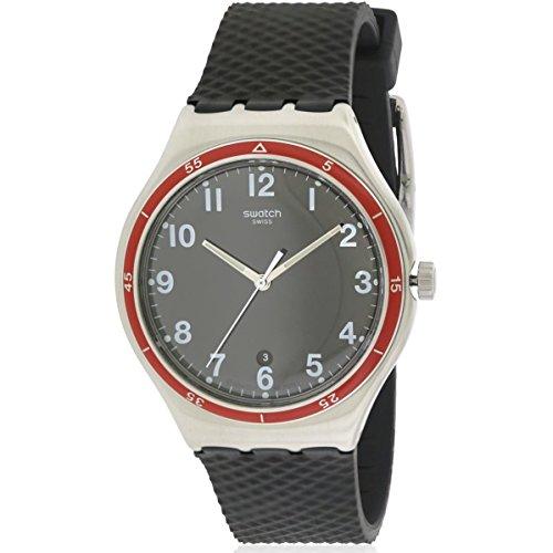 Swatch hombre rojo rueda yws417negro goma reloj cuarzo suizo