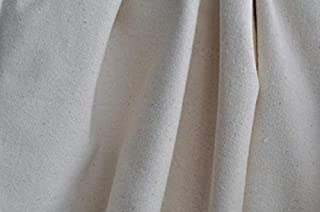Organic Cotton Heavyweight Flannel Fabric - Natural - By the Yard