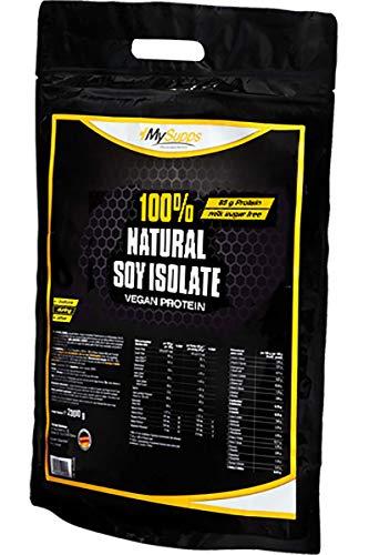 My Supps 100% Natural Soy Isolate 2000g - vegan, laktosefrei, glutenfrei, gentechnisch unverändert - natürliches Premium Sojaproteinisolat ohne künstliche Aromen & 90% Proteinanteil - Made in Germany