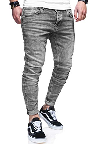 behype. Herren Stretch Jeans-Hose 80-1050 Grau W29/L32