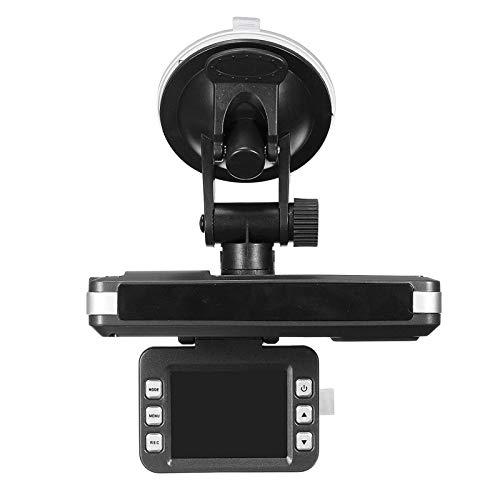 Grabadora de conducción 2 en 1 HD Car DVR Dashboard Dash CAM Trafic Recorder Speed Detector Cámara Detector Recordo de conducción de Coche DVR (Color : Black, Size : OneSize)