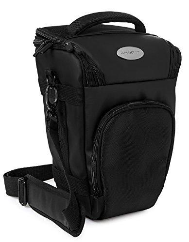 Baxxtar PRO NOVO II (L) Full-Size SLR Kameratasche Colttasche schwarz (mit Schultergurt, Beckengurt, Gurttunnel, Regencape)