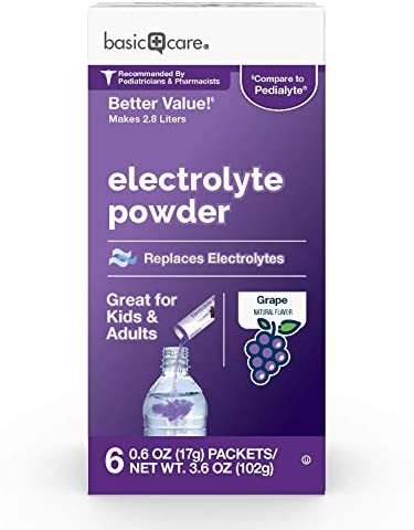 Amazon Basic Care Electrolyte Powder Variety Packets, 8 Count