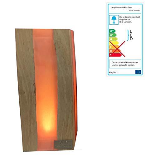 Lampenmanufaktur Saar Tischleuchte Cube L 23 x 10 x 10 cm LED -EEK: A++ bis A/Spektrum: A++ bis E