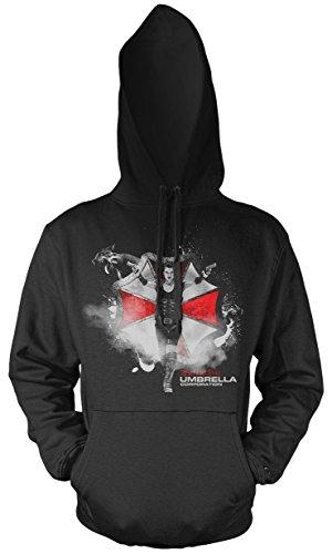 Uglyshirt87 Resident Evil Männer und Herren Kapuzenpullover | Umbrella Corporation Zombie ||| M2 (XXL)