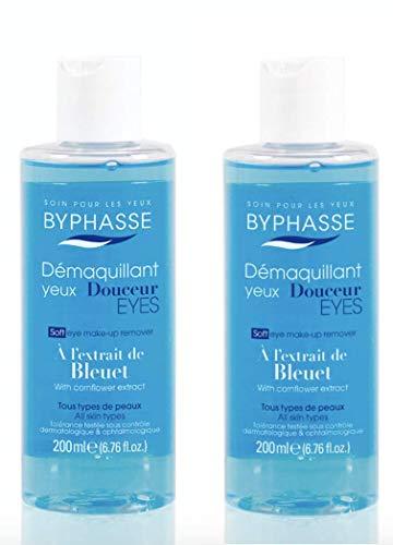 Byphasse LOT DE 2 - Démaquillant yeux douceur à l´extrait de Bleuet - 200 ml - Tous types de peaux