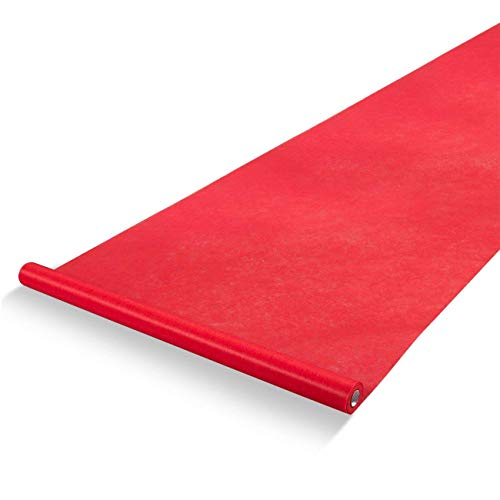 Red Carpet Runner - Aisle Runner - Essential Hollywood and Christmas Party Decoration, Runway Rug, Suitable for Indoor or Outdoor Party Decoration - Red, 3 x 100 Feet (40gsm Thickness)