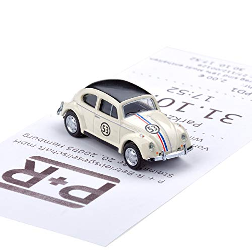 corpus delicti :: Magnetischer Parkscheinhalter für das Armaturenbrett – Modellauto mit Magnet und Selbstklebender Haftscheibe – Kultauto VW Käfer Rallye (20.10-18)