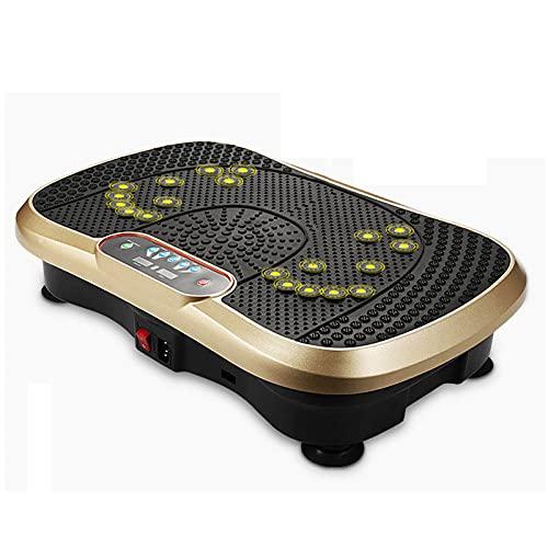 SFITVE Plataforma Vibratoria Fitness 99 Velocidades y 3 Modos,Ultra Slim Maquina de Entrenamiento con Motor Silencioso,Control Remoto y Pantalla LCD,Carga hasta 200 kg(Color:Dorado)