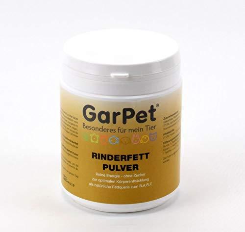 Rinderfett Pulver 250 g für Hunde Katzen Rind Barf Fütterung Ergänzung