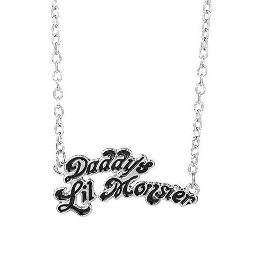 YUNMENG Suicide Squads Jewelry Harley Quinn Collares Daddy'S Lil Monster Colgante Collar Logo Cosplay Regalo