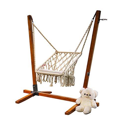 Balancelles avec auvent Siège de balançoire Chaise pivotante balançoire de Jardin Adulte Balcon extérieur Chaise en Bois Massif balançoire d'extérieur (Color : Brown, Size : 110 * 90 * 150CM)