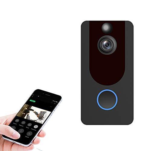 WX Draadloze Wifi Video Deurbel, Remote Dialogue, Real-Time Monitoring, Infrarood Nachtzicht, Gemakkelijk te installeren, Geschikt voor Familiewoning, Villa, Bedrijf