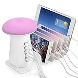 Luce a LED Lampada da tavolo, lampada da scrivania ricaricabile, stazione di ricarica USB, touch...