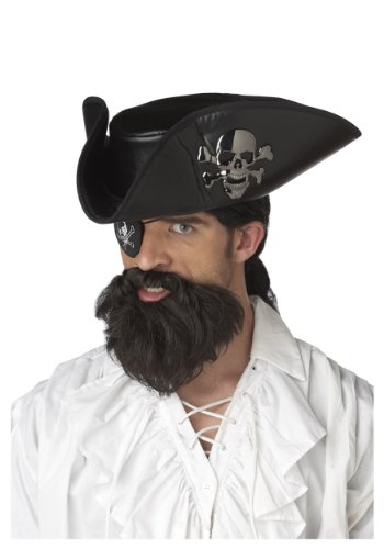 California Costumes Pirate Captain Beard Standard Black