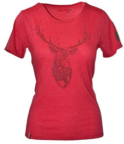 Almgwand D.Shirt Blickneralm, Größe:XXL, Farbe:rot