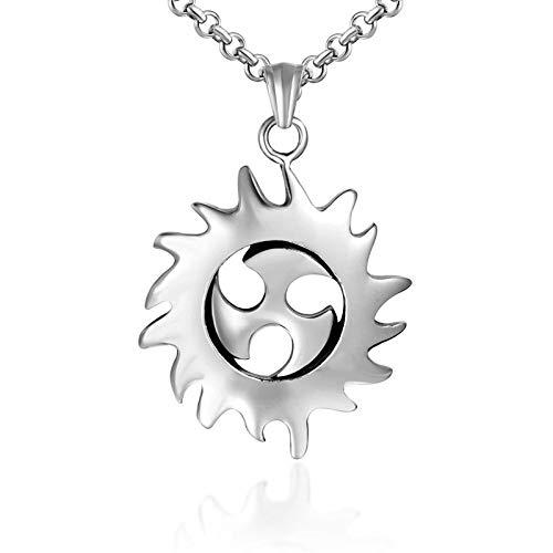Mode Hot Sun Wheel Titanstahl Halskette Anhänger Hot Wheel Anhänger Zubehör