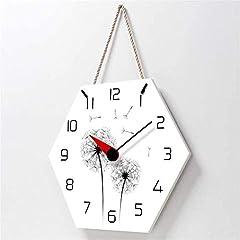 TIANYOU Wall Clock Dandelion Bracket Clock Lanyard Clock Acrylic Silent Wall Clock Living Room Bedrooms Kitchen Bracket Clock 14 Inches No Ticking #3