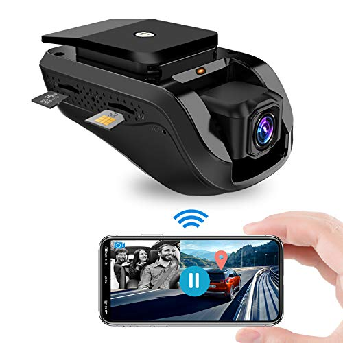 Dashcam, Jimi Autokamera 1080P Front WiFi Kamera mit Live-Video für Auto und Innenkamera mit Integriertem GPS, Nachtsicht, G-Sensor, Loop Aufzeichnung, Vibrationsalarm, Kostenlose 16GB TF Karte
