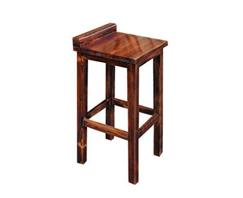 Tabouret en bois Tabouret de bar haut en bois solide pur carbonisé Tabouret de bar/tabouret de bar carbonatation couleur haute 75 (taille : 75cm)