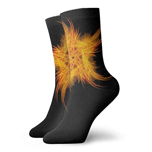 JONINOT FIRE PENTAGRAM Calcetines deportivos de algodn informales esenciales para hombre Calcetines de algodn W8.5CM X L30CM