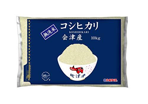【精米】【Amazon.co.jp限定】会津産 無洗米 コシヒカリ 10kg 平成30年産