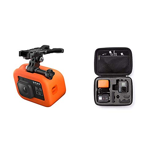 GoPro Bite Mount Floaty for HERO8 Black Official GoPro Accessory ASLBM 002 Amazon Basics GoPro Carrying Case Small