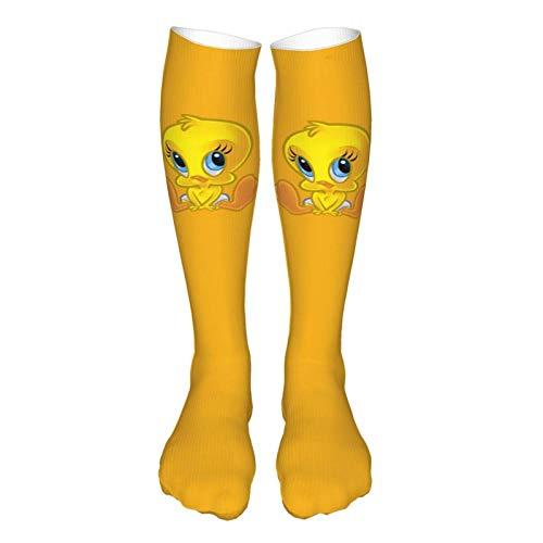 Tweety Bird Socken Hausschuhe Socken Thermosocken Dicke Socken Krankenhaussocken Neuheit Kleid Crew Socken Herbst Weich Outdoor Prom Mid Tube Socken