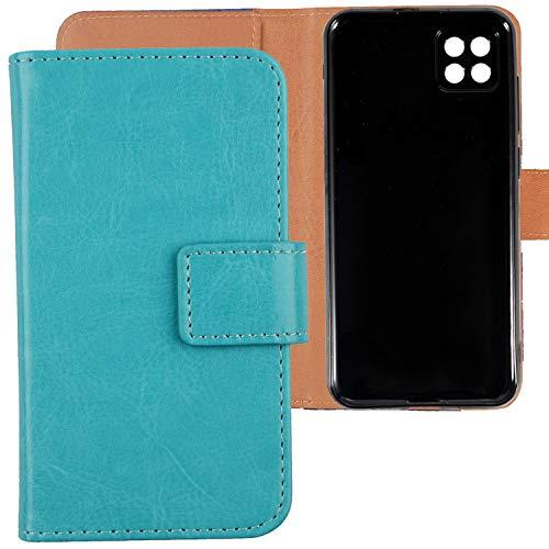 Lankashi PU Leder Tasche Hülle TPU Silikon Für Cubot X20 Pro 6.3 inch Handy Flip Brieftasche Schutz Hülle Cover Etui Schutzhülle Klapphülle Handytasche (Farbe: Blau)