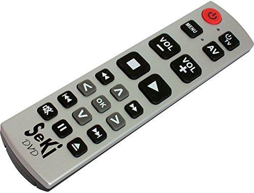 SeKi DVD silber-schwarz lernfähige Universal-Fernbedienung mit großen Tasten - für Senioren + Kinder