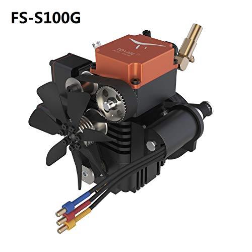 TETAKE Viertaktmotor Modell Bausatz, Benzinmotor / Ottomotor, 4 Stroke Engine Modell für 1:10 1:12 1:14 RC Ferngesteuertes Auto/Boot/Flugzeug, TOYAN FS-S100G