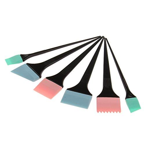 Nobranded Pinceles para Teñir El Cabello con Aplicador de Pinceles de Color de Pelo 6pcs