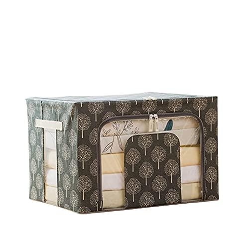 qwertyuiop Bolsa de almacenamiento de ropa, grande, 66 L, organizador de armario, bolsas de almacenamiento para edredones mantas