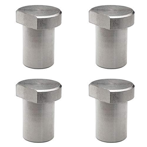 Dasing 4 topes para banco de trabajo BllCke de acero inoxidable, madera sólida, accesorios para mesa