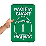 SmartSign'Pacific Coast California 1 Highway' Sign | 12' x 18' Aluminum