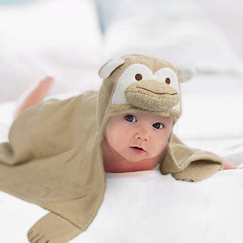all Kids United® Babyhandtuch mit Kapuze I Kapuzenhandtuch für Babys und Kinder 76 x76 cm I Kapuzentuch aus 100% Frottee Baumwolle - Baby Badetuch mit Kapuze - Öko-Tex 100