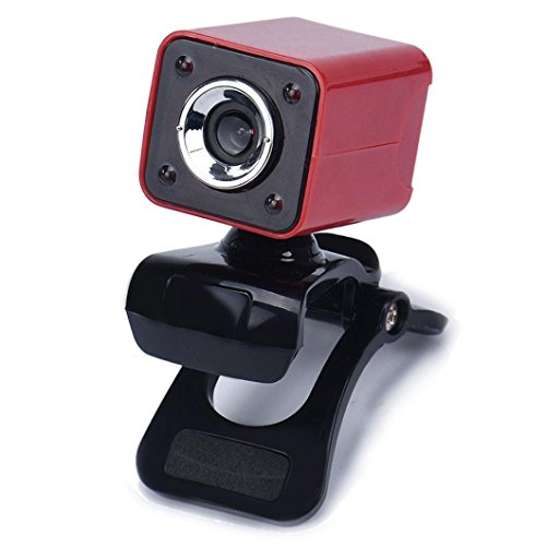 Creazy USB 2.0 1080P 8.0MP 4 LED HD Webcam Camera with MIC for Laptop Computer