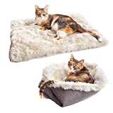 Fidofox® Cama multifunción para Gatos y Perros pequeños. Colchón Mascotas Reversible en Nido.