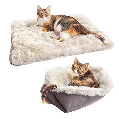 Fidofox Cama multifunción para Gatos y Perros pequeños. Colchón Mascotas Reversible en Nido.