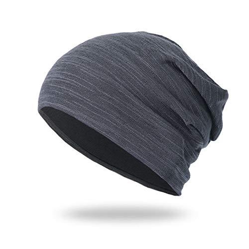 PPJIU Damen Slouch Long Beanie Mütze,Damen Lässige Strickmütze Winter Weiche Warme Kopftuch Grau Leichte Schädelkappe Für Frauen Geburtstagsfeier