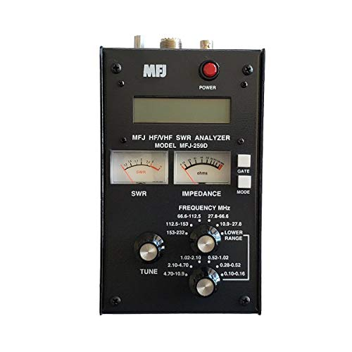 MFJ-259D MFJ259D Original MFJ Enterprises Antenna Analyzer, VHF/220 MHz (100-160 KHz, 280-520 KHz, .53-230 MHz) - Replaces MFJ-259C