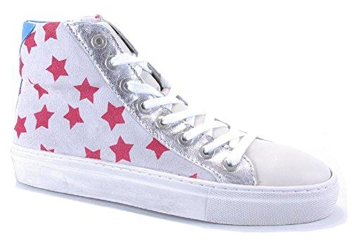 Binks Damenschuh Damen-Sneaker Rauleder mit roten Sternen NEU (41)
