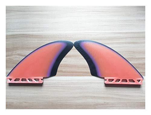 YEZIB Surf & Sup Fin, Quilla de la Aleta Tabla de Surf Gemelos Fin Sistema de Fibra de Vidrio Hecha a Mano Aletas Aletas Tabla de Windsurf para Longboard, Tabla de Surf y Paddleboard.