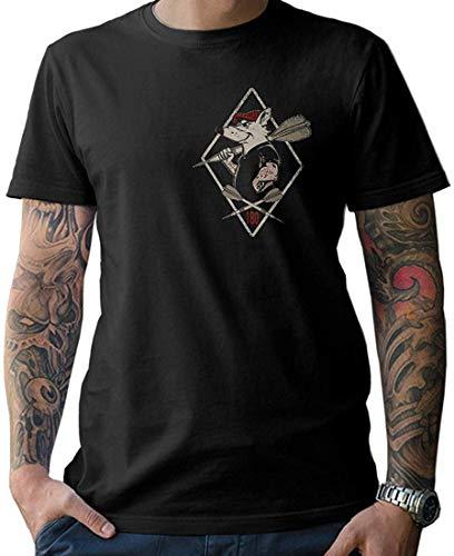 NG articlezz - Camiseta de Dardos para Hombre (Tallas S-5XL, Estampado Frontal y Trasero)
